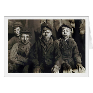 Muchachos del triturador en Pittston, PA 1911 Tarjeta Pequeña