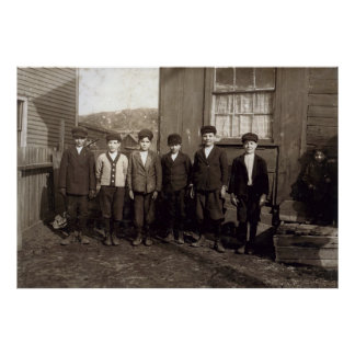 Muchachos del triturador - Pittston Pennsylvania Póster