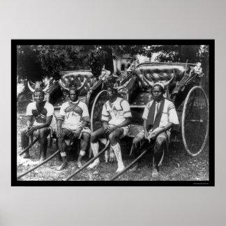 Muchachos Durban, Suráfrica 1897 del carrito Póster
