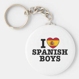 Muchachos españoles llavero redondo tipo pin