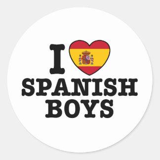 Muchachos españoles pegatina redonda