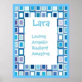 Muchachos geométricos azules de los chicas cualqui impresiones