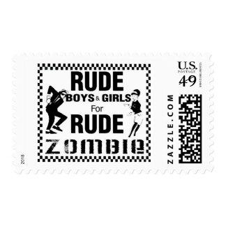 Muchachos groseros y chicas para el zombi grosero sellos