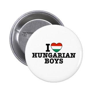 Muchachos húngaros pin redondo de 2 pulgadas