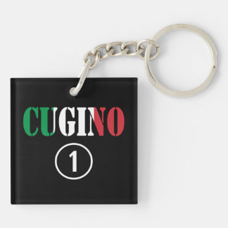 Muchachos italianos de los primos: Uno de Cugino Llavero Cuadrado Acrílico A Doble Cara