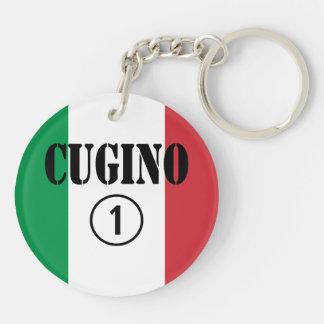 Muchachos italianos de los primos: Uno de Cugino Llavero Redondo Acrílico A Doble Cara
