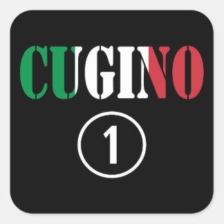 Muchachos italianos de los primos: Uno de Cugino Pegatina Cuadradas Personalizadas