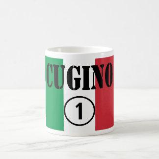 Muchachos italianos de los primos: Uno de Cugino Taza Básica Blanca