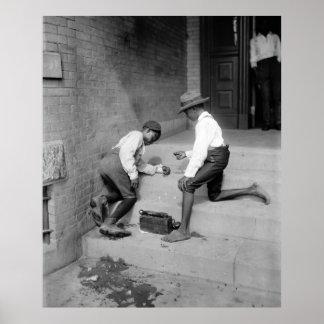 Muchachos negros que tiran las mierdas 1901 póster