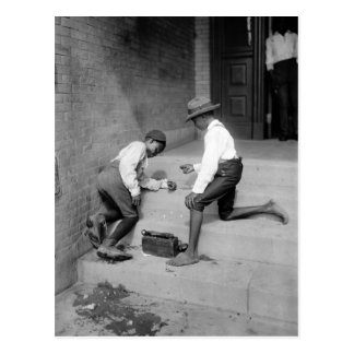 Muchachos negros que tiran las mierdas 1901 tarjeta postal
