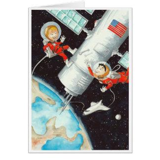 Muchachos por satélite tarjetas