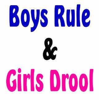 Muchachos regla y Drool de los chicas Esculturas Fotográficas