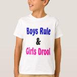 Muchachos regla y Drool de los chicas Playera