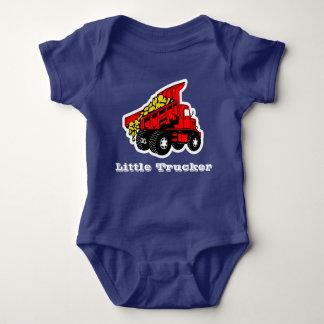 Muchachos rojos del camión del pequeño camionero body para bebé