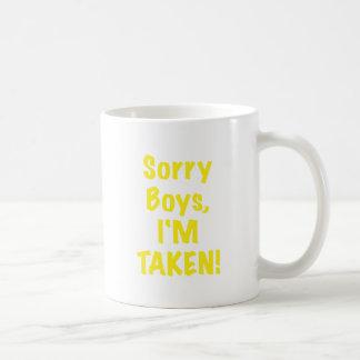 Muchachos tristes Im tomado Taza De Café