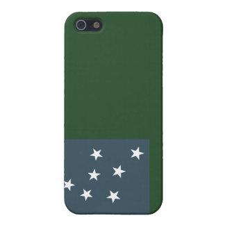 Muchachos verdes de la montaña y la bandera de la  iPhone 5 coberturas