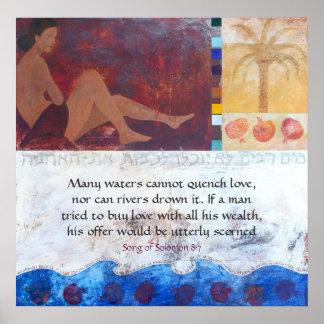 Muchas aguas no pueden apagar el amor, n… póster
