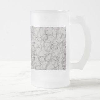 Muchas curvas del gris jarra de cerveza esmerilada