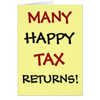 ¡Muchas declaraciones de impuestos felices Adapta