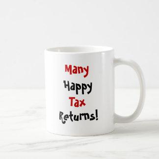 Muchas declaraciones de impuestos felices taza clásica