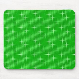 Muchas estrellas verde del neón