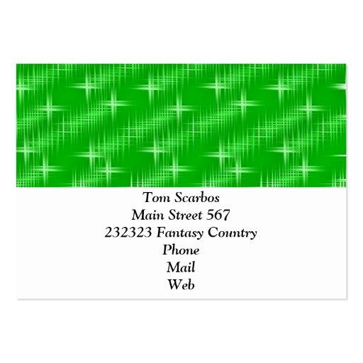 muchas estrellas, verde del neón plantillas de tarjeta de negocio