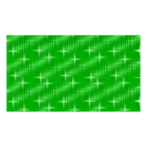 muchas estrellas, verde del neón plantillas de tarjetas de visita