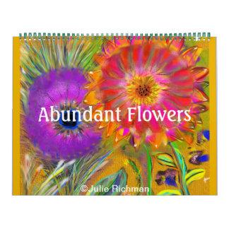 Muchas flores abundantes calendario de pared