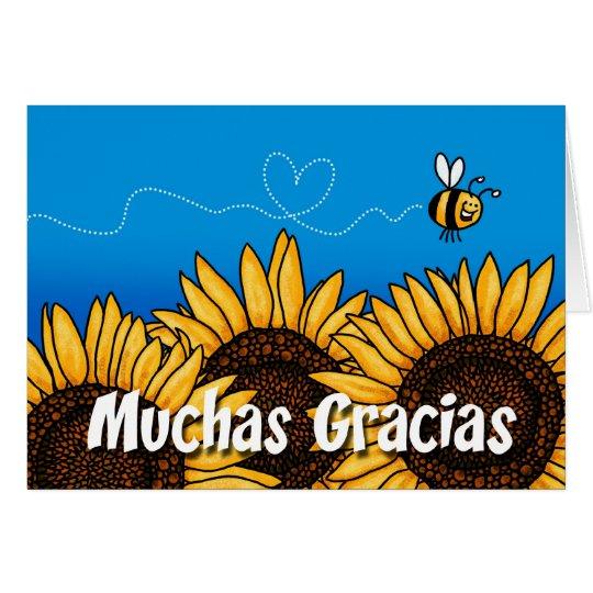Muchas gracias (Spanish Thank you card) Card | Zazzle