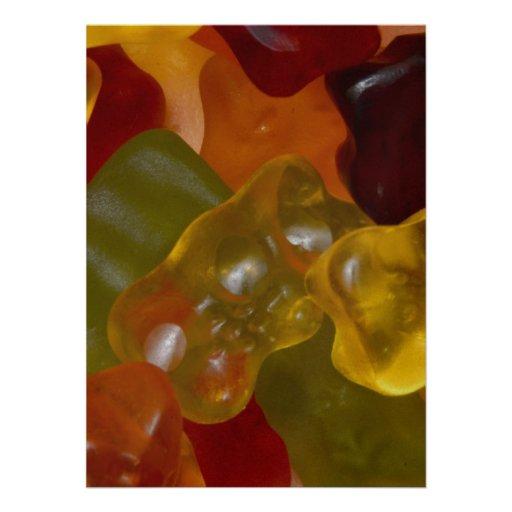 Muchas Gummibärchen multicolores Comunicados