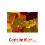 Muchas Gummibärchen multicolores Postal