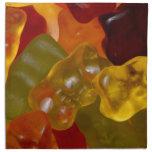 Muchas Gummibärchen multicolores Servilleta Imprimida