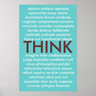 Muchas maneras de pensar póster