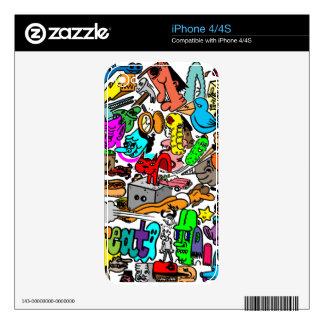 muchedumbre del color calcomanía para el iPhone 4S