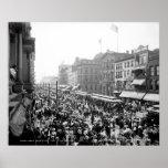 Muchedumbre del Día del Trabajo, búfalo: 1900 Poster
