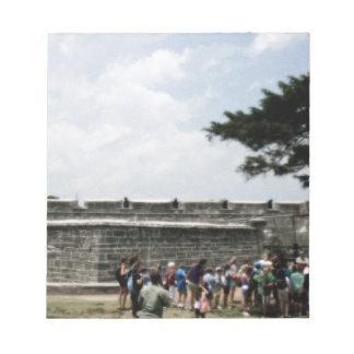 Muchedumbre del fuerte de St Augustine granosa Bloc De Papel