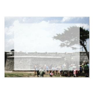 """Muchedumbre del fuerte de St Augustine granosa Invitación 5"""" X 7"""""""
