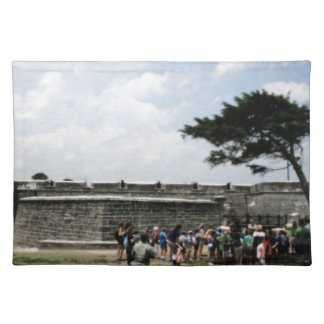 Muchedumbre del fuerte de St Augustine granosa Manteles Individuales