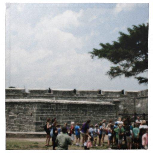 Muchedumbre del fuerte de St Augustine granosa Servilleta Imprimida