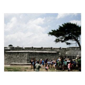 Muchedumbre del fuerte de St Augustine granosa Tarjeta Postal