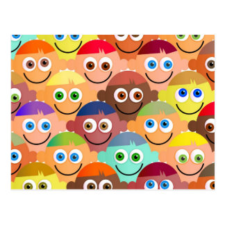 Muchedumbre feliz postales
