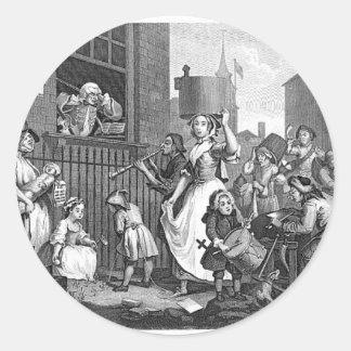Muchedumbre repugnante (vintage) pegatina redonda