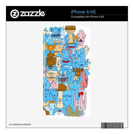 Muchedumbre Skins Para eliPhone 4S