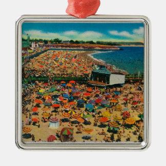 Muchedumbres en la playa, Santa CruzSanta Cruz, CA Adorno De Reyes