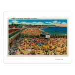 Muchedumbres en la playa, Santa CruzSanta Cruz, CA Postales
