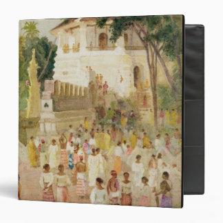 """Muchedumbres en un monumento en la India, 1895 Carpeta 1 1/2"""""""