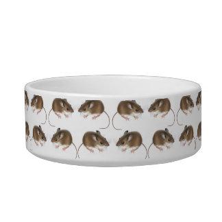 Mucho cuenco del mascota del ratón de campo de Mou Tazones Para Comida Para Gato