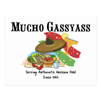Mucho Gassyass Mexican Food Postcard