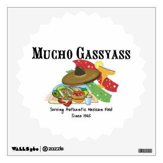 Mucho Gassyass Mexican Food Wall Sticker