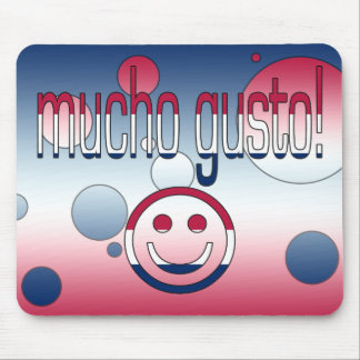 Mucho Gusto! America Flag Colors Pop Art Mouse Pad